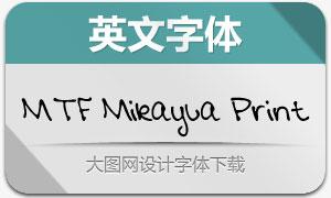 MTF Mikayla Print(英文手写字体)