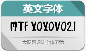 MTF XOXOvo2.1(英文手写字体)