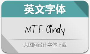 MTF Cindy(英文手写字体)