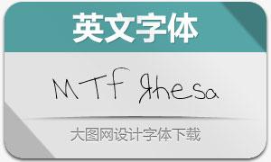 MTF Rhesa(英文手写字体)