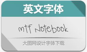 MTF Notebook(英文手写字体)