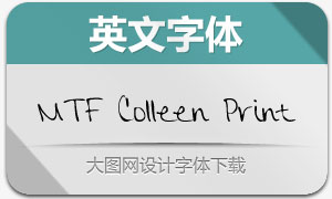 MTF Colleen Print(英文手写字体)