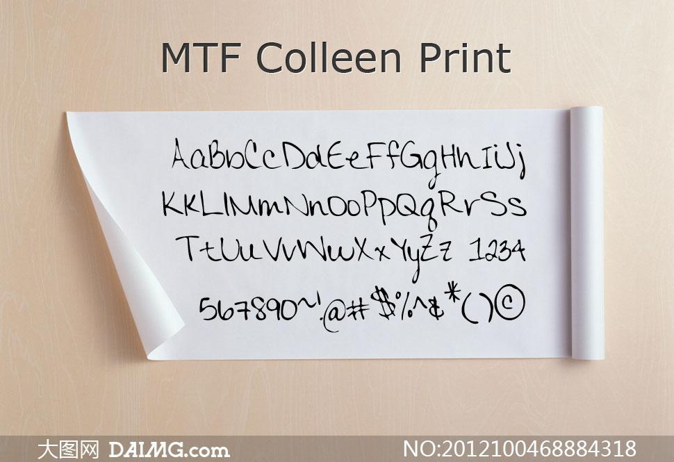 Cursive(英文手写体) 上一篇: mtf notebook(英文手写字体