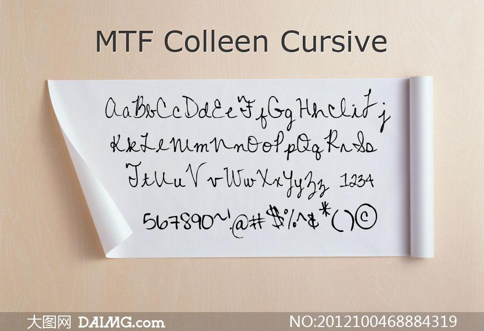 cursive(英文手写体)