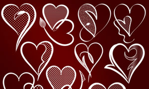情人节心形设计笔刷