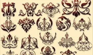欧式装饰花纹PS形状