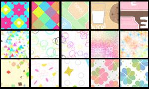 碎片格子和花纹背景填充图案