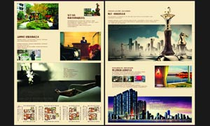 房地产宣传海报设计矢量素材
