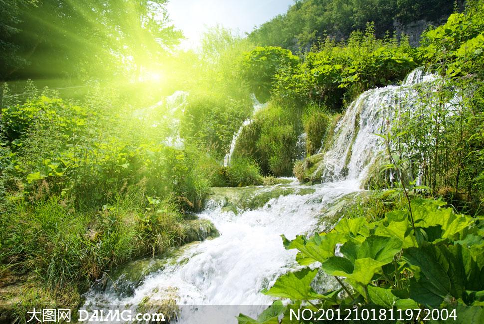 山间的幕布自然风景摄影高清图片