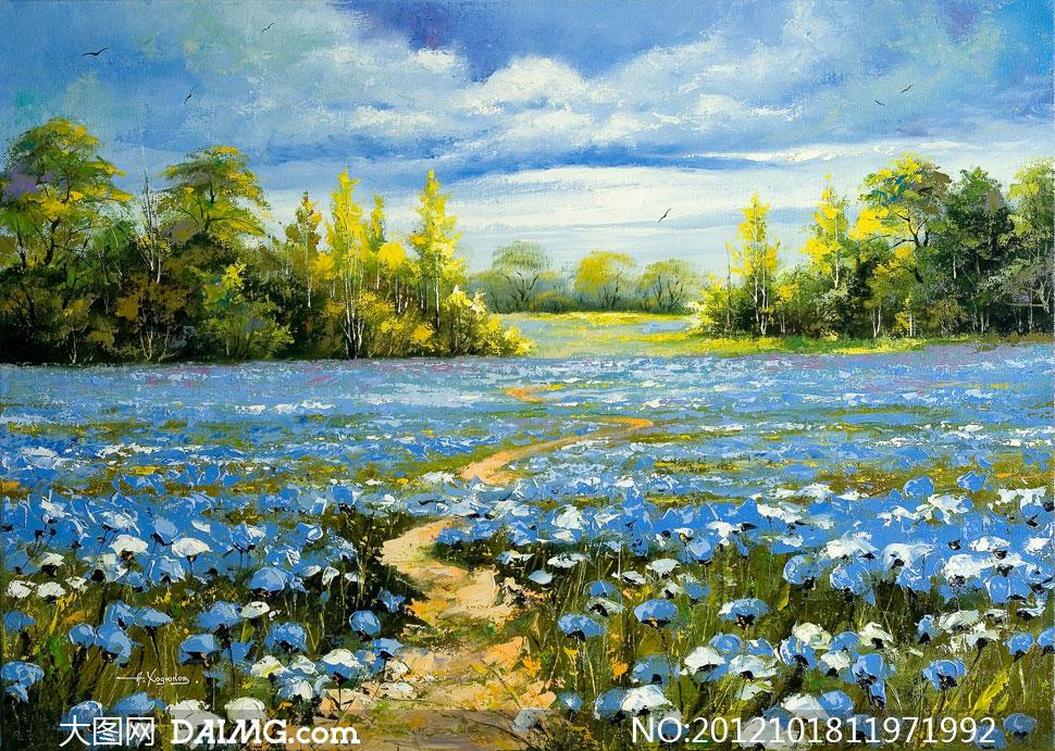 关键词: 图片大图素材高清自然风景风光大树树木树林树丛蓝天白云云层图片