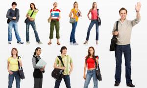 外国美女帅哥学生人物摄影高清图片
