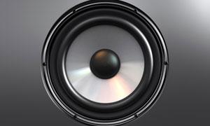 多媒体音箱喇叭单元高清摄影图片