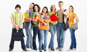 接受高等教育的外国学生高清图片