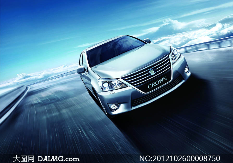 高档丰田皇冠汽车设计图片素材