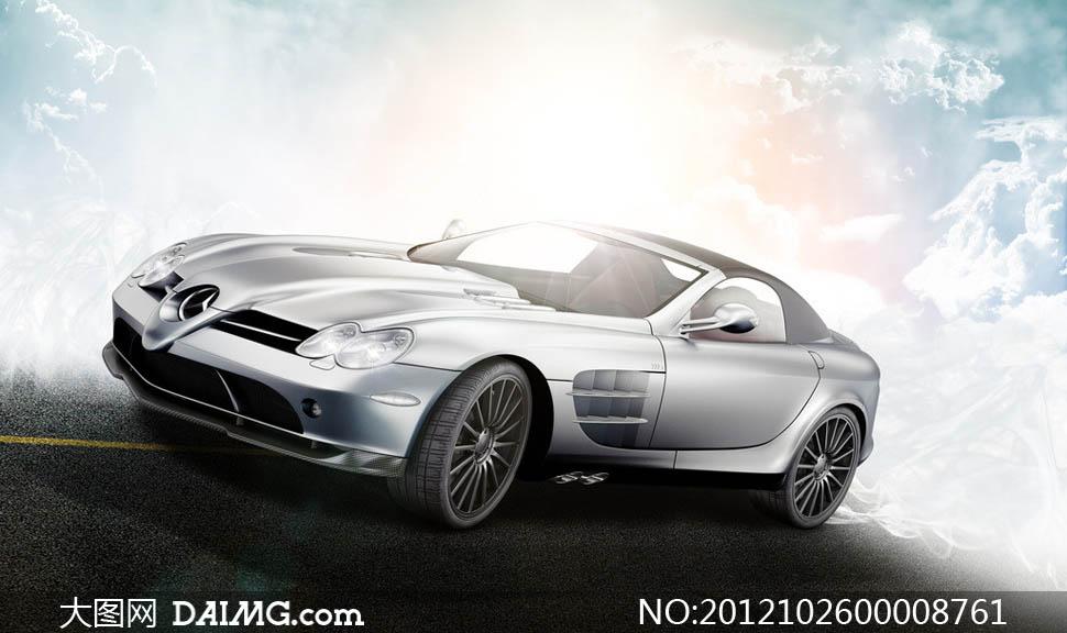 奔驰SLR高端跑车摄影图片