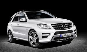 奔驰GLK银白色汽车摄影图片