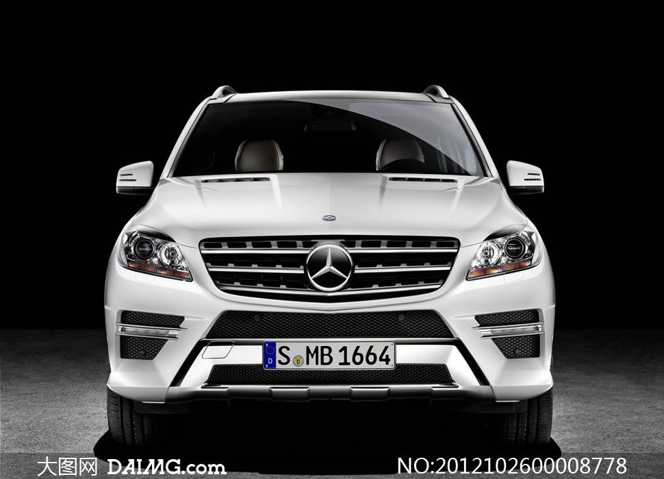 奔驰M级SUV汽车摄影图片