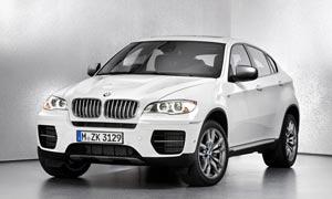 宝马X6白色SUV摄影图片
