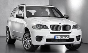 宝马X6白色SUV汽车摄影图片