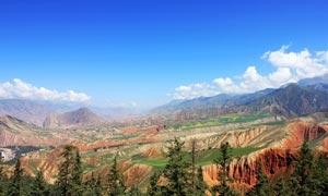 高原山峦山峰摄影图片
