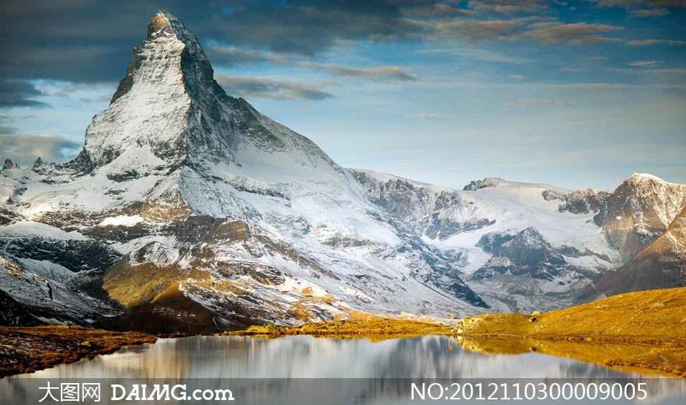 雪山风景和湖泊摄影图片 - 大图网设计素材下载