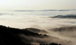 山顶云海风景摄影图片