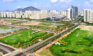 深圳南山区全景摄影图片