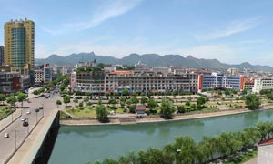 浦江县城全景摄影图片