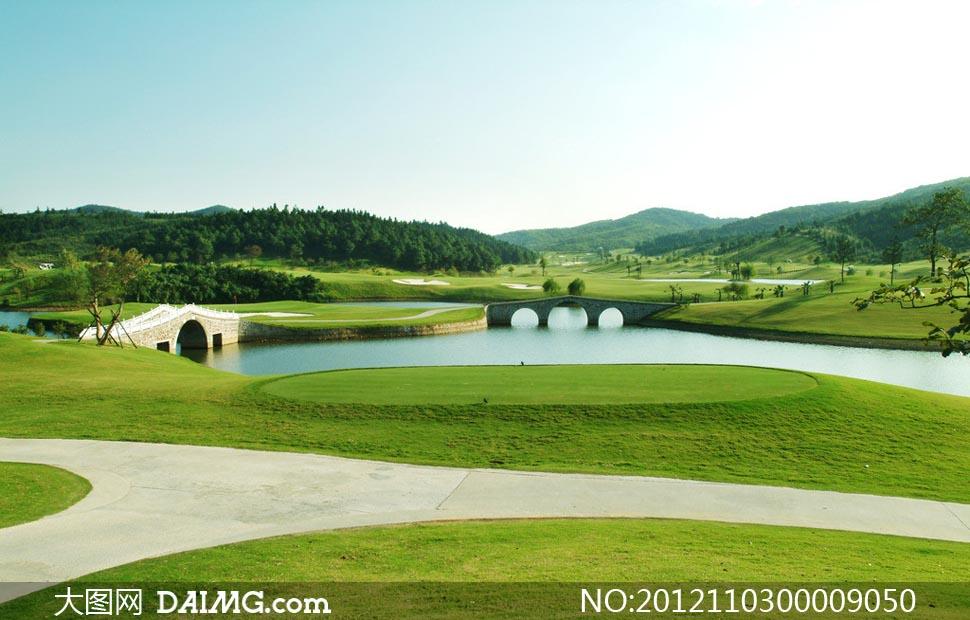 高尔夫绿色赛场摄影图片