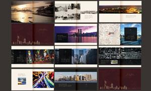 新城市规划画册设计矢量素材