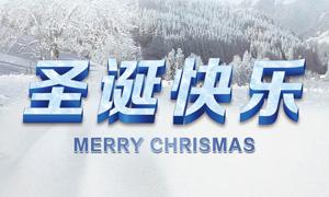 圣诞节展架设计模板PSD源文件