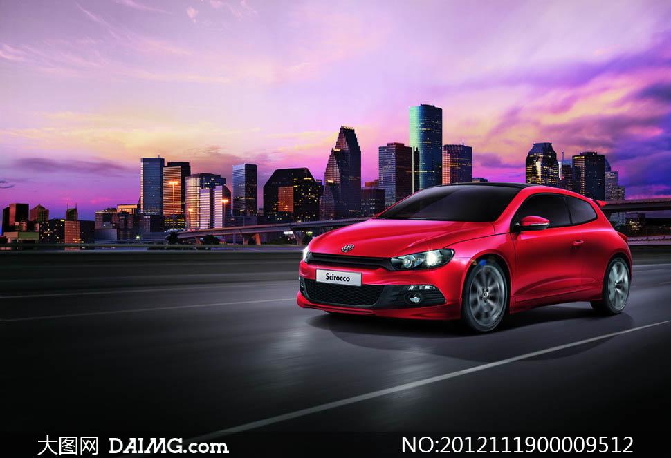 2013款大众红色尚酷汽车摄影图片