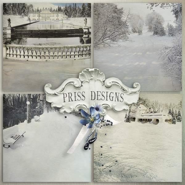 天使宝贝冬季装饰背景图片素材
