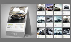 2013年汽车台历模板矢量素材