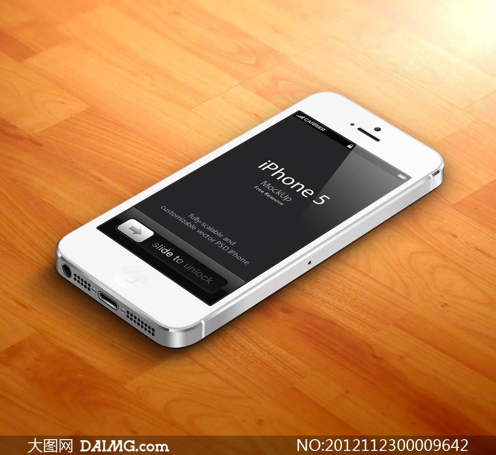 白ihone5手机立展d素材