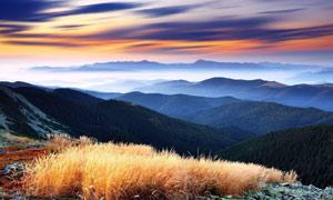 秋季山顶风光美景摄影图片