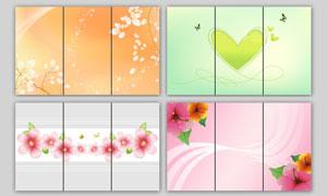 时尚花朵移门图案设计PSD源文件