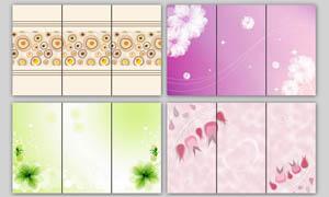 梦幻花朵移门图案设计PSD源文件