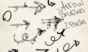 创意个性的手绘箭头笔刷