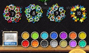 五角星组成的艺术字动作