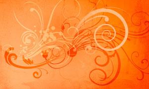 时尚花纹花藤设计笔刷