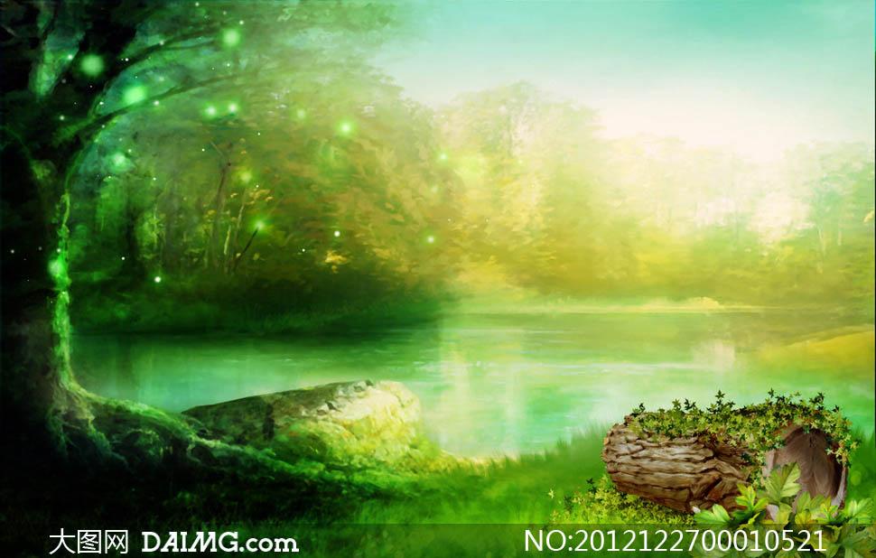 梦幻森林摄影背景图片素材 大图网设计素材下载