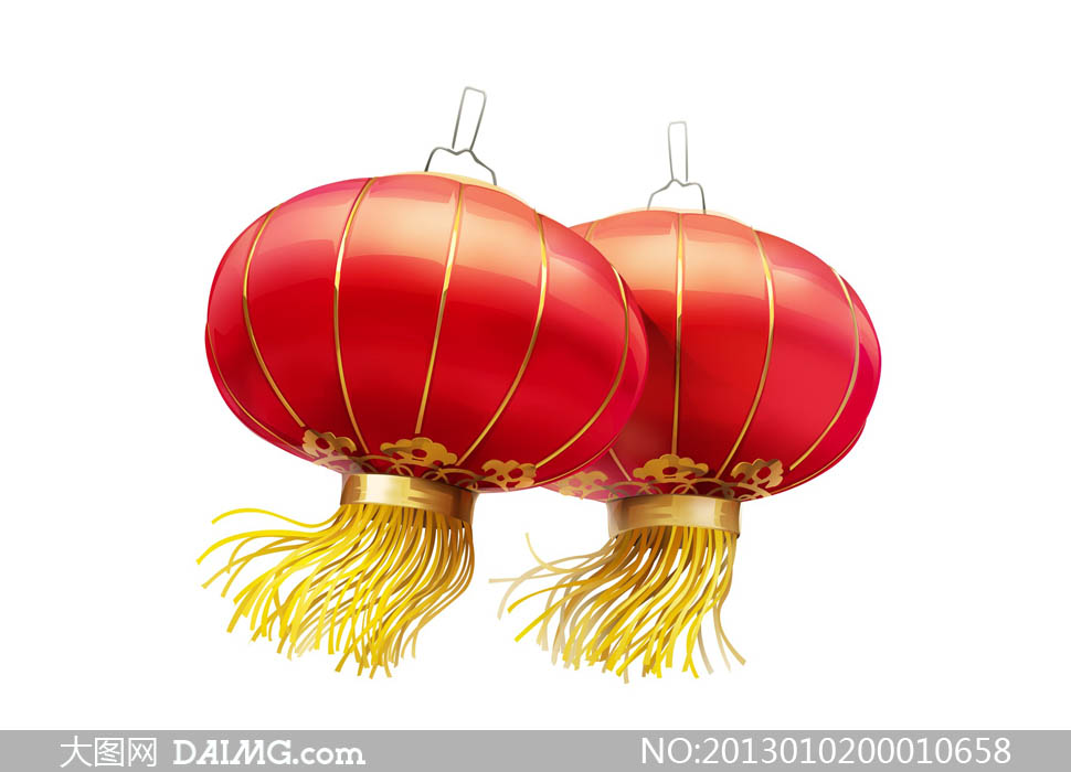 可乐简笔画-喜庆的红灯笼设计图片素材