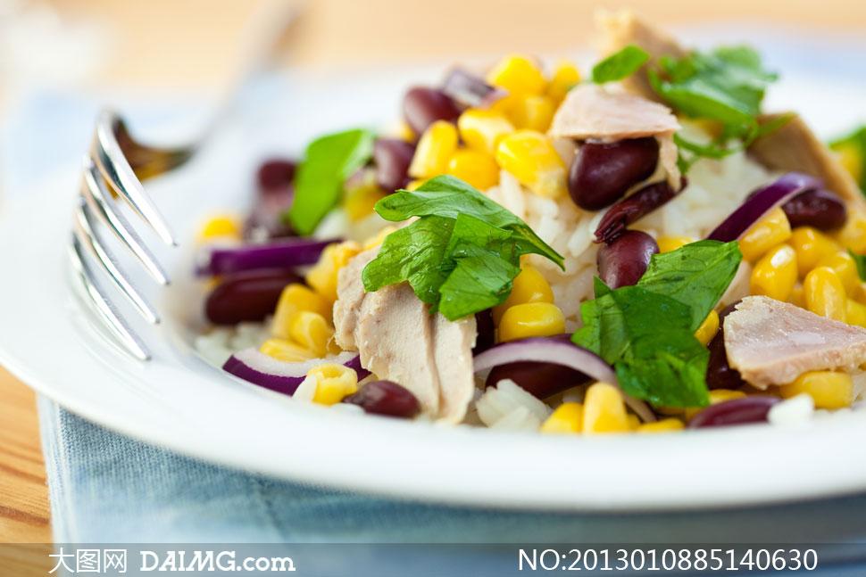 健康营养美食菜品特写