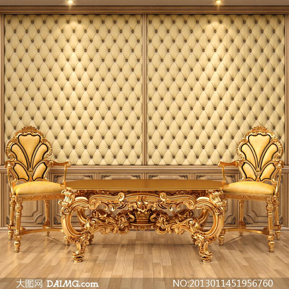 白色欧式沙发带金边图片大全