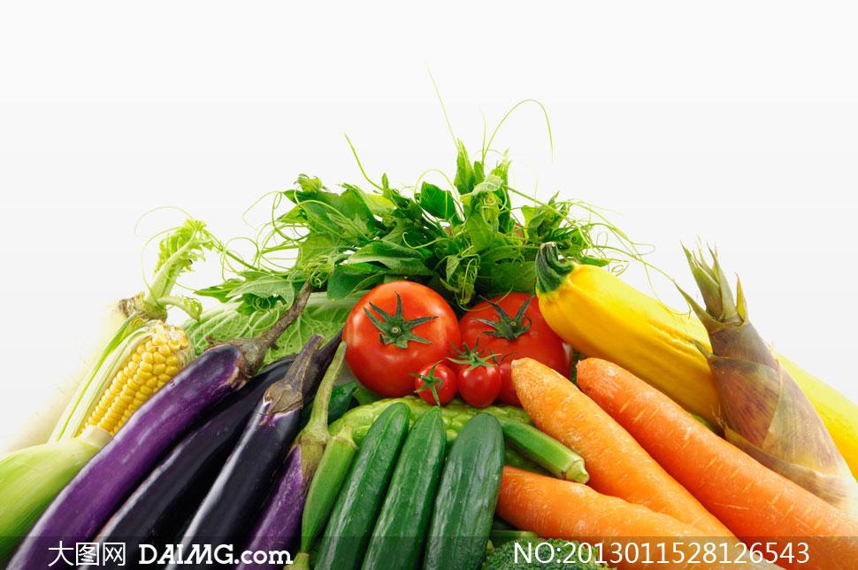 关键词: 高清摄影大图图片素材微距近景特写蔬菜胡萝卜竹笋玉米西红柿