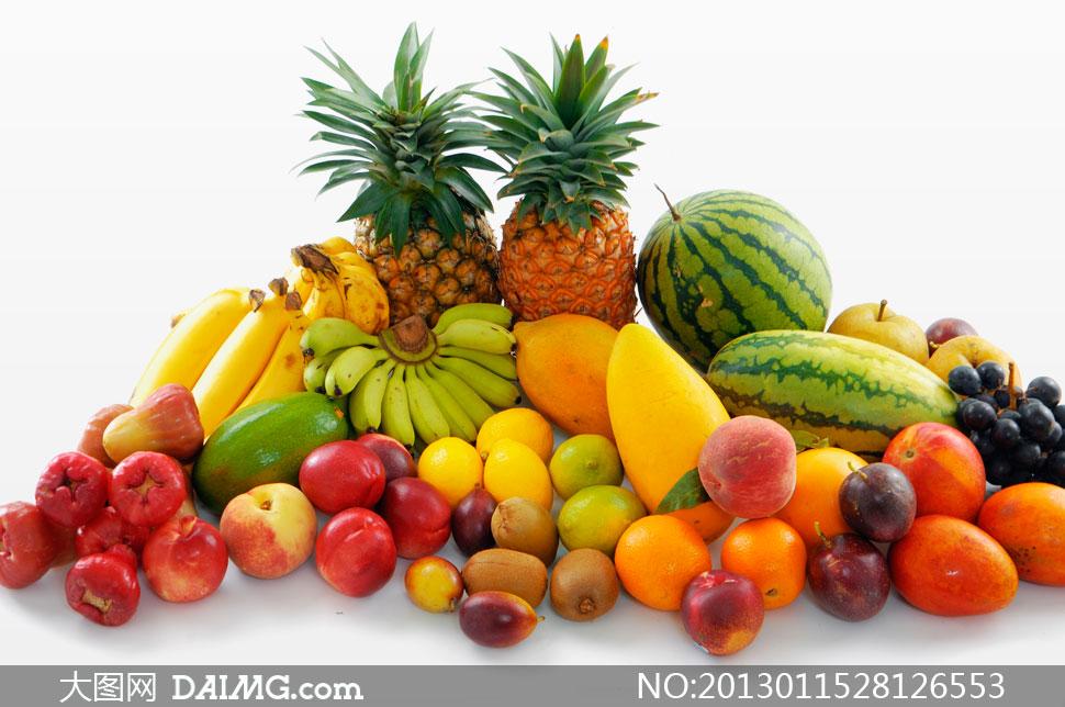 剥落芒果香蕉热带水果摄影高清图片 - 大图网设