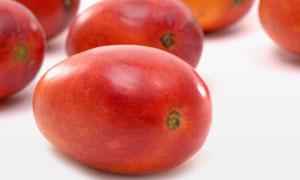 新鲜红色的苹果芒特写摄影高清图片