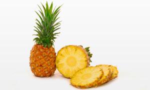 新鲜菠萝切片展示特写摄影高清图片