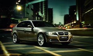 宝马3系汽车广告设计图片素材